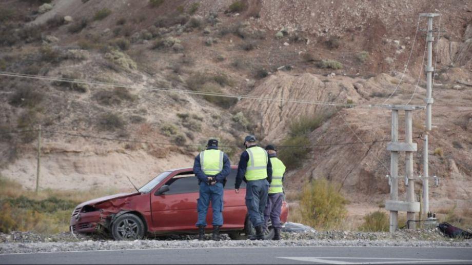 Un auto chocó a un ciclista, que falleció sobre la Ruta 7. (Archivo/Florencia Salto).-