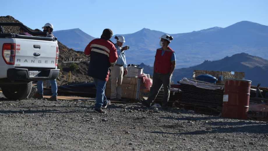Personal de Ambiente realizó el miércoles una inspección sobre la mina de Andacollo. Foto: gentileza Nicolás Fuentes.
