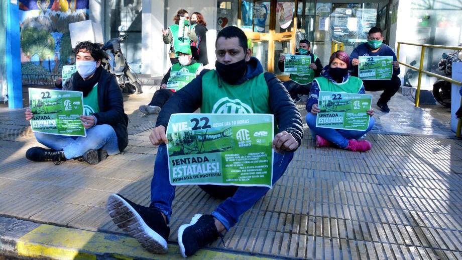 La protesta de ATE del viernes generó la negociación con el gobierno. (Foto: Marcelo Ochoa)