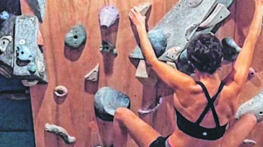 La joven atleta logró construir una palestra en su propia casa. Foto: gentileza