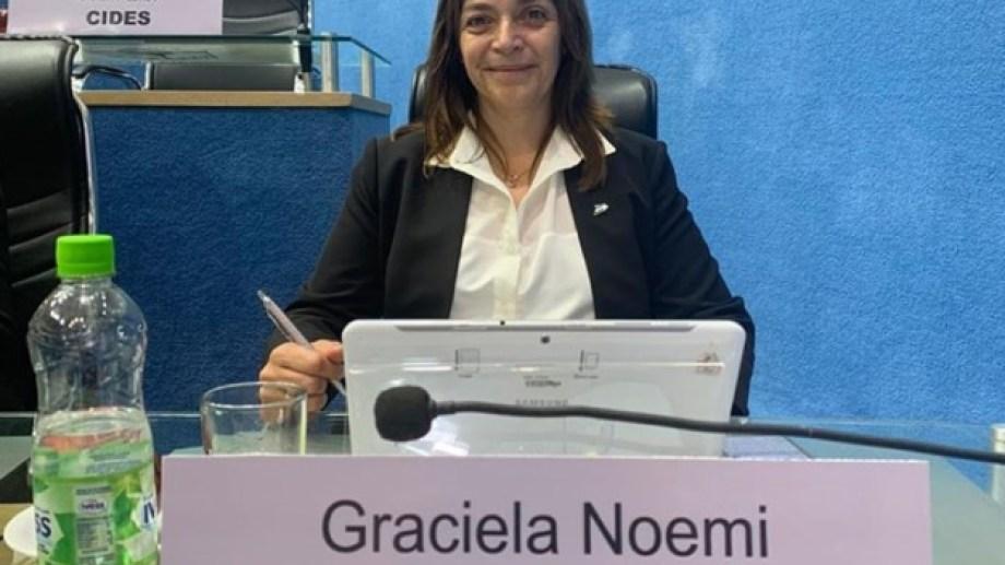 Graciela Vivanco (JSRN) es la segunda representante que tiene Comallo en su historia (Foto: gentileza).