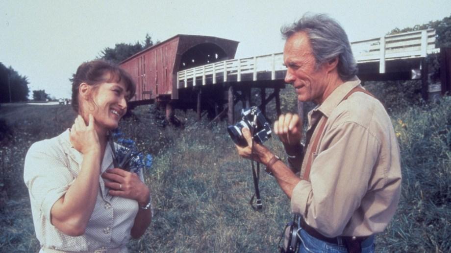"""En """"Los puentes de Madison"""" (1995), junto a Meryl Streep."""