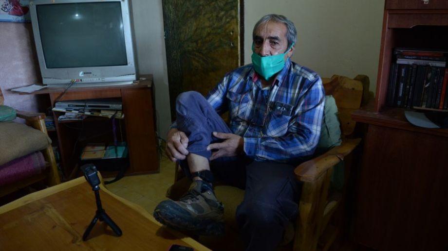Gatica fue trasladado a la casa de una de sus hijas, en San Antonio Oeste. Foto: Martín Brunella.-