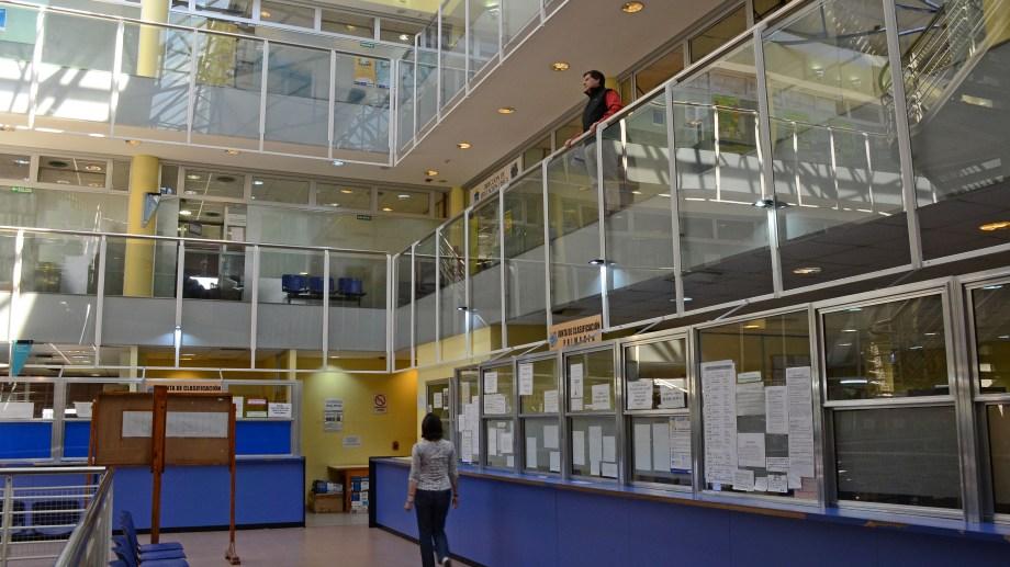 El hall del CPE. Foto: Mauro Pérez