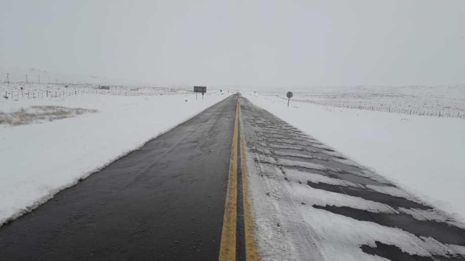 La ruta 23 fue despejada y habilitada. Foto: Vialidad Nacional