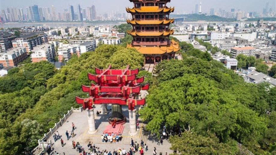 Torre de la Grulla Amarilla, o Huanghelou, un lugar emblemático en Wuhan
