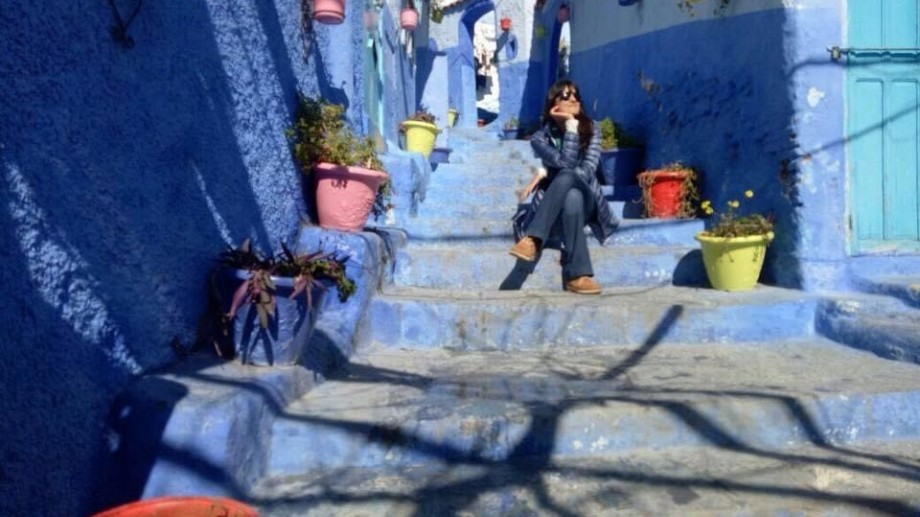 "Chefchaouen o ciudad azul. ""Si vas a visitar Marruecos no podés perdértela""."