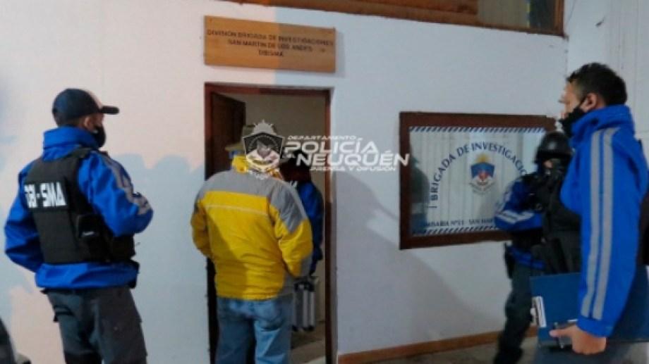 El hombre fue detenido ayer, en San Martín de los Andes. (Gentileza).-