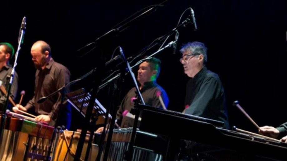 El Ensamble Percusión de Fundación Cultural Patagonia, agrupación anfitriona del festival internacional roquense.