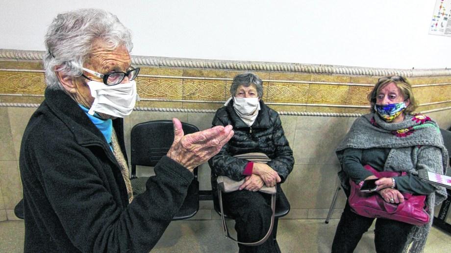 Las referentes de Derechos Humanos al salir del encuentro con el Tribunal Superior de Justicia. Foto: Oscar Livera