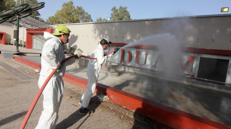 El espacio Duam es uno de los centros de emergencia que armó la provincia para la contención de enfermos leves. (FOTO: Oscar Livera)