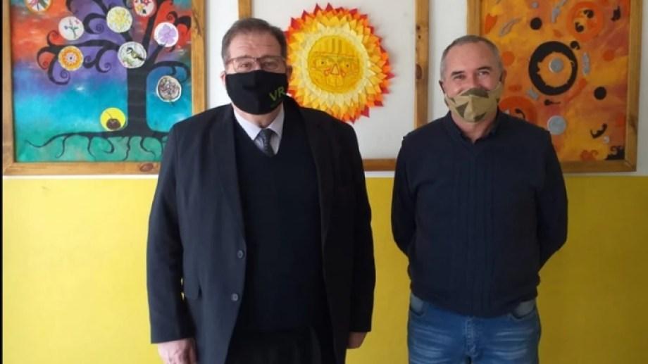Los intendentes de Regina y Godoy, Marcelo Orazi y Luis Ivancich, analizaron medidas por la pandemia. (Foto gentileza)