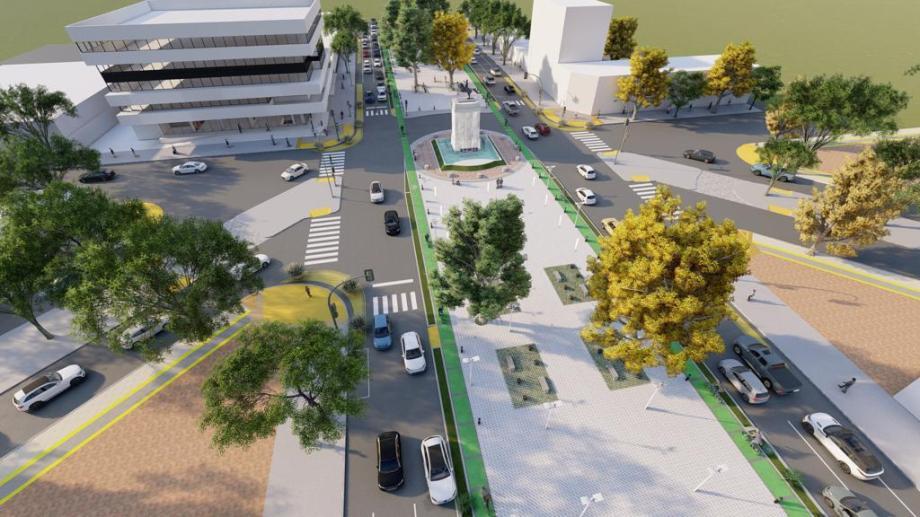 La megabicisenda arrancará con las 3 primeras cuadras. Ilustración municipalidad