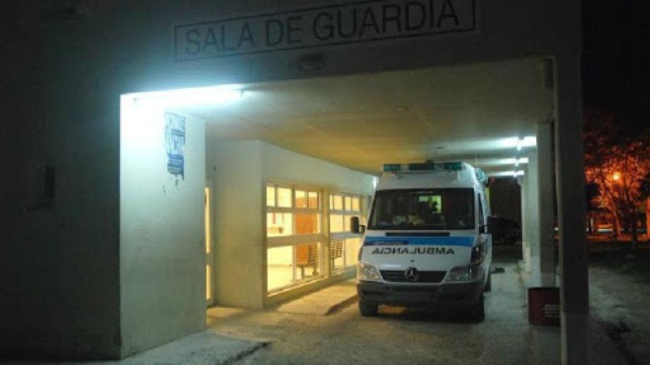 El herido recibió las primeras atenciones en la sala de guardia del hospital de Roca. (foto: archivo)