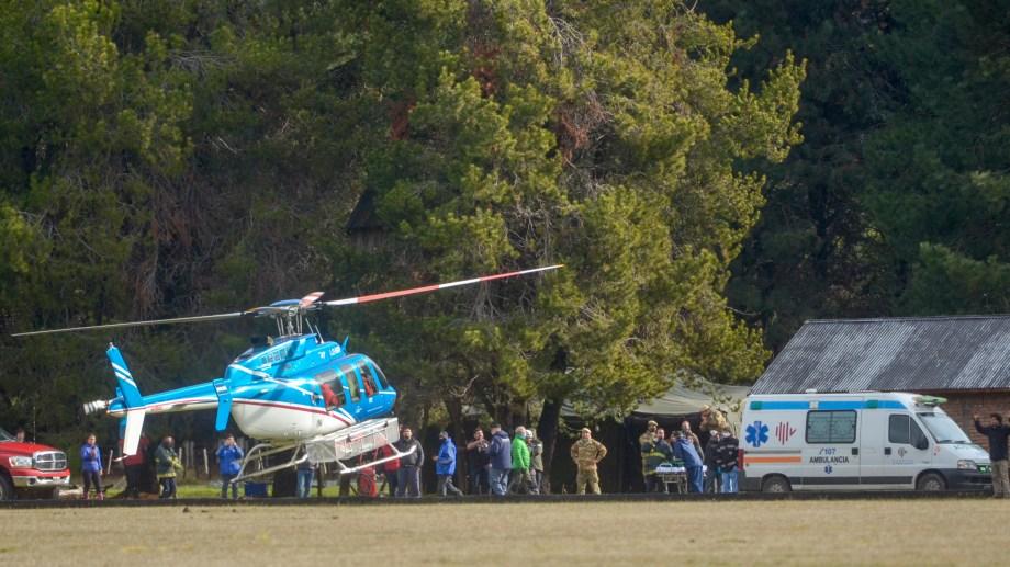 El joven fue trasladado al hospital de San Martín de los Andes pero se encuentra en buen estado de salud. (Foto: Patricio Rodríguez)