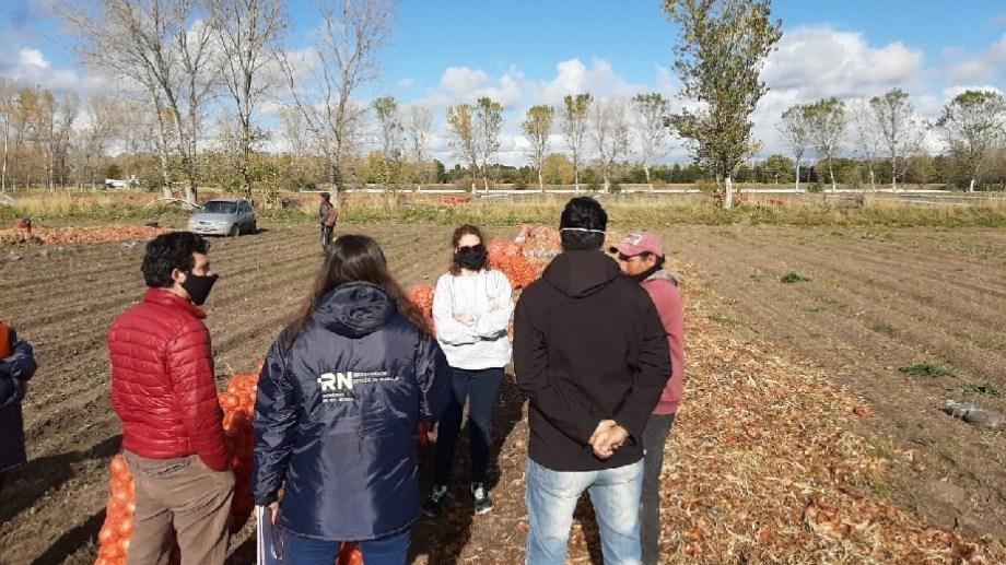 Migraciones también realizó controles entre los trabajadores extranjeros que llegan a la zona. Foto: archivo.