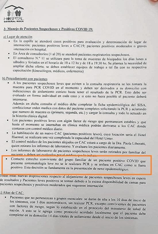 El documento del hospital citado arriba.