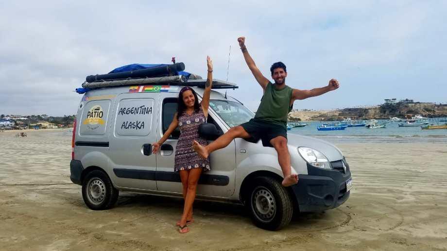 Paracas, en la costa peruana llegando al Pacífico. Julio del 2019