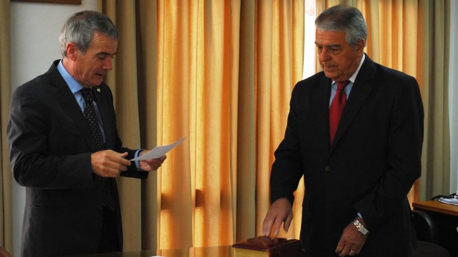 Evaldo Moya (izq) asumirá la presidencia en reemplazo de Massei cuando se efectivice su renuncia el 1 de agosto de 2020. (Archivo)