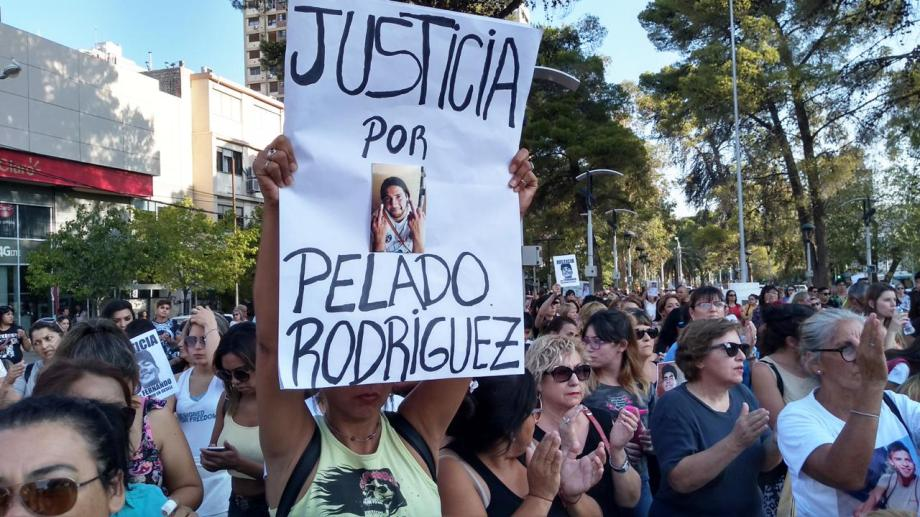 Una de las marchas para pedir justicia por Daniel Rodríguez. El único detenido es Maxi  Mérgola. (Gentileza)