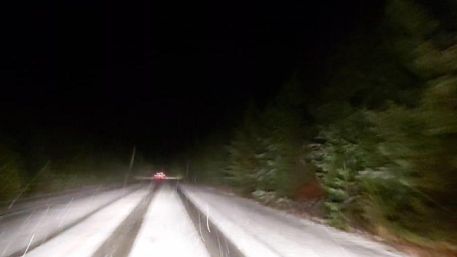 La ruta 40, entre Bariloche y El Bolsón, está transitable con extrema precaución. Foto: gentileza