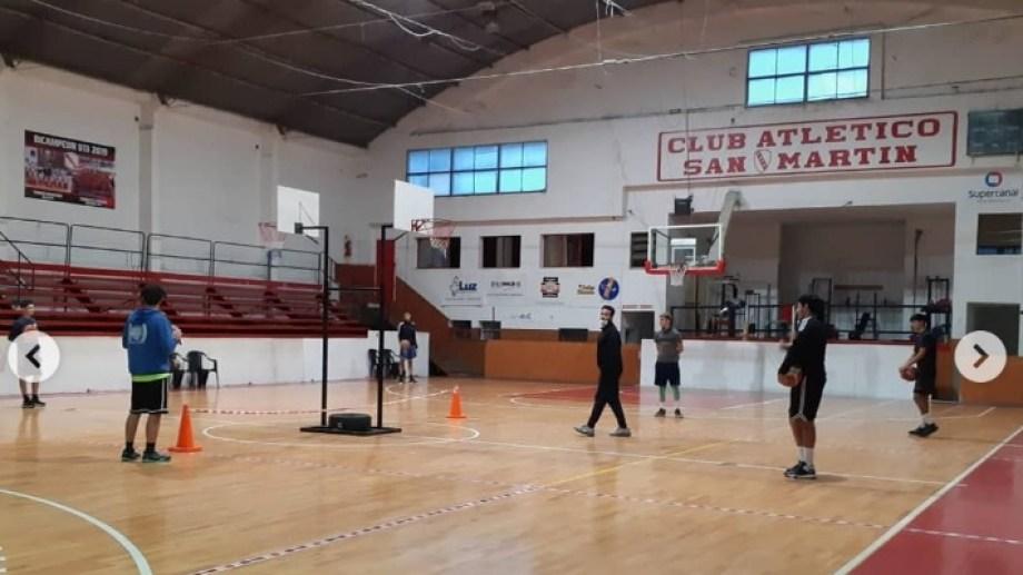El club San Martín fue uno de los que regresó a los entrenamientos cumpliendo los protocolos.