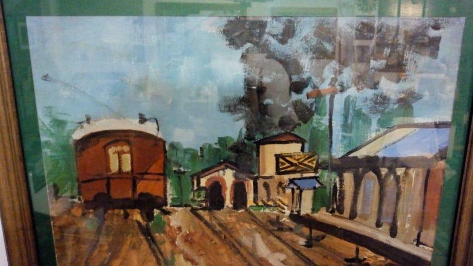 Uno de los cuadros de LIliana. Vista del exgalpón de máquinas del ferrocarril Sud.