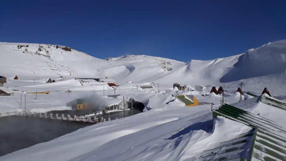Así están las termas de Copahue después de las últimas nevadas en esta paradisíaca zona de Neuquén en la cordillera.