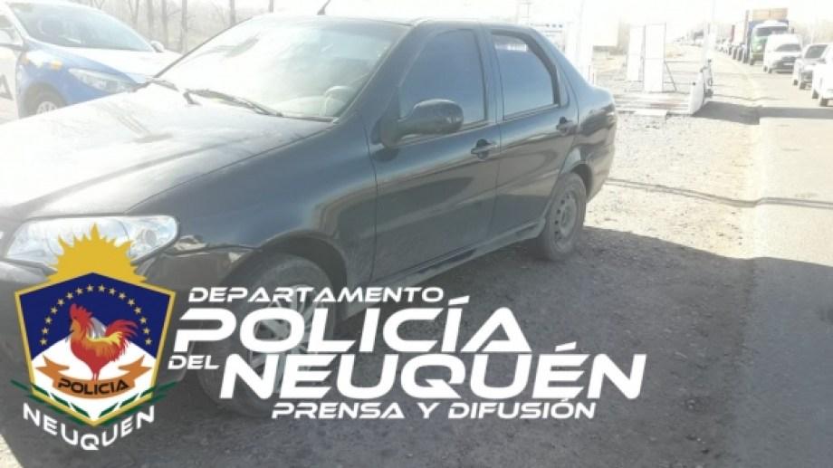 El vehículo fue secuestrado.Foto: Policía de Neuquén