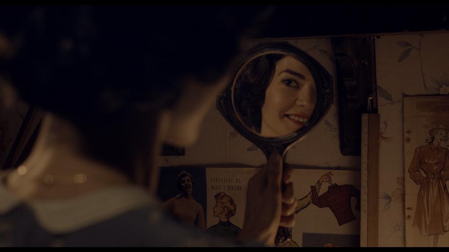 María Soldi en el papel de Rosa, la costurera. Foto: gentileza