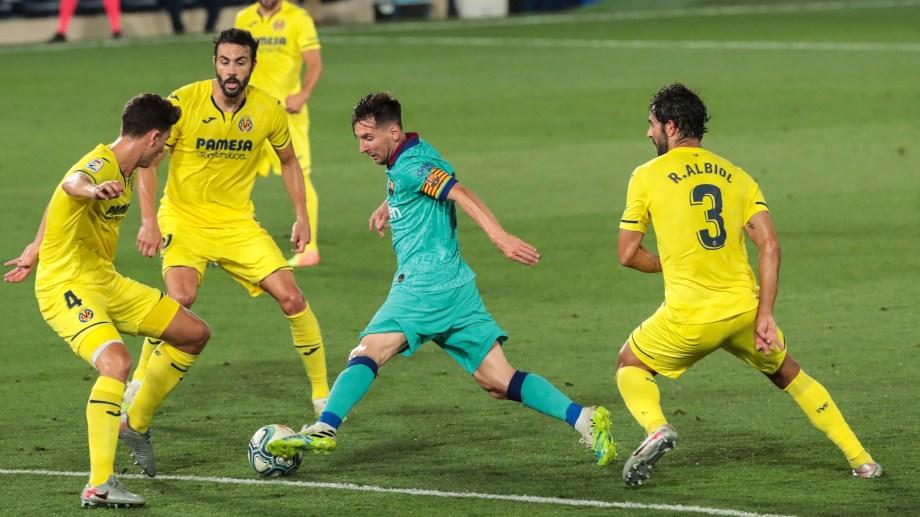 La goleada de la última fecha ante Villarreal (4-1), estimuló al equipo de Lionel Messi, que venía de dos empates seguidos. (AP Photo/Jose Miguel Fernandez de Velasco)