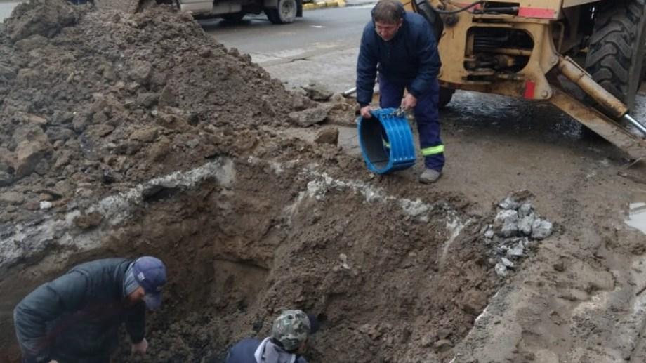 Las reparaciones en calle Mendoza se llevaron adelante el sábado y el lunes. (foto: gentileza)