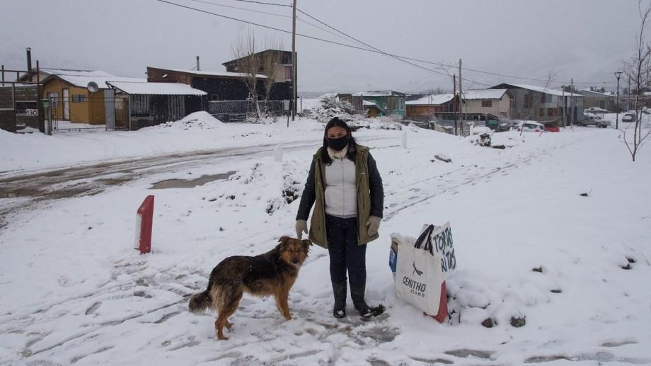 La nieve regresó con fuerza a cubrir Bariloche. Foto: Marcelo Martinez