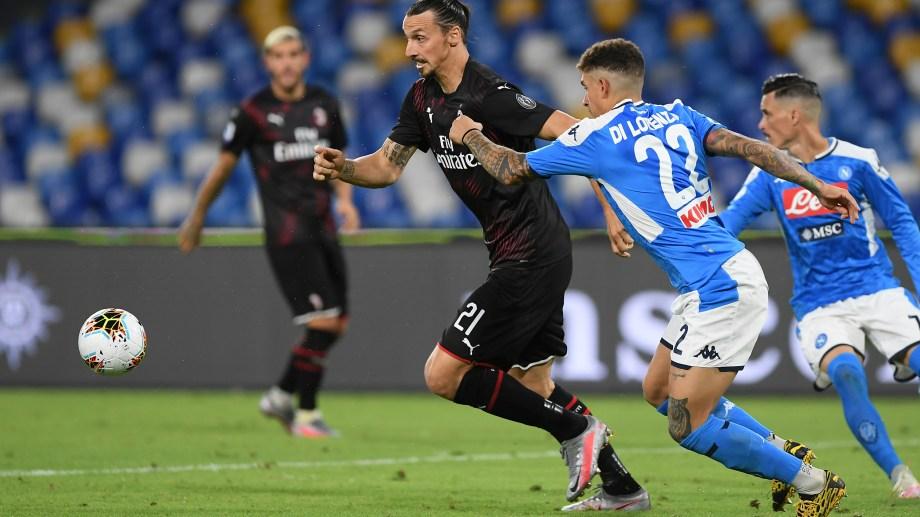 El equipo de Ibrahimovic no aprovechó la chance de pasar a Nápoli en la tabla.