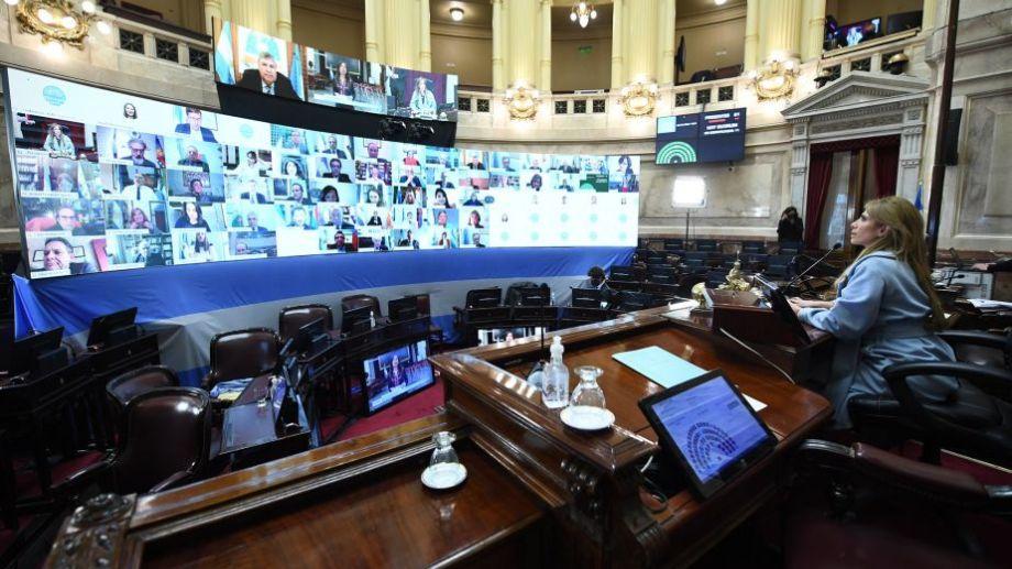 El Senado debatirá hoy varios proyectos en una sesión especial por videoconferencia. Foto: Senado de la Nación.