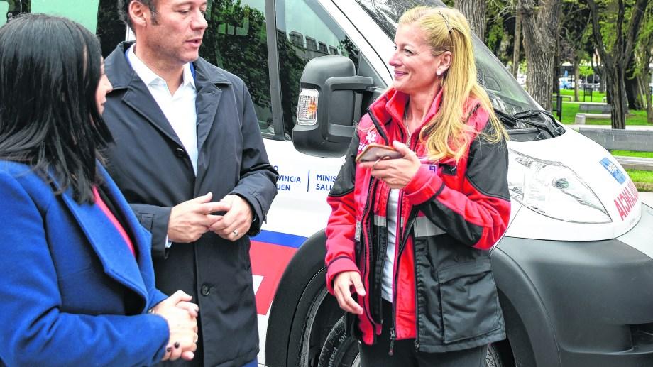 La doctora Ortiz Luna con el gobernador Gutiérrez. Foto archivo.