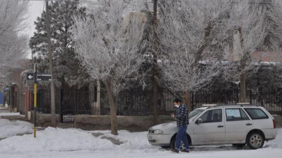 En Jacobacci, la mínima fue de -12 grados. (Foto: José Mellado)