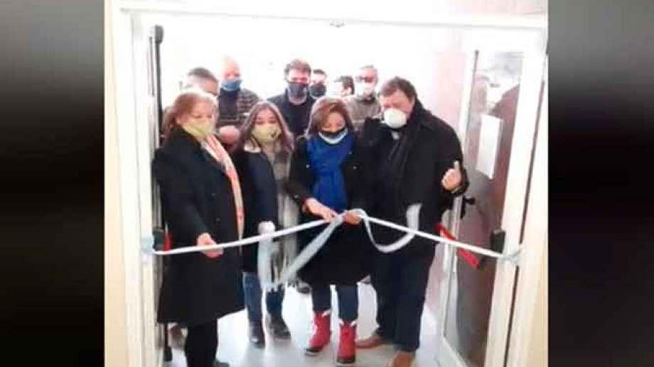 Carreras, Weretilneck y Mabel y Soraya Yahuar en la inauguración del Nodo de Transporte en Los Menucos