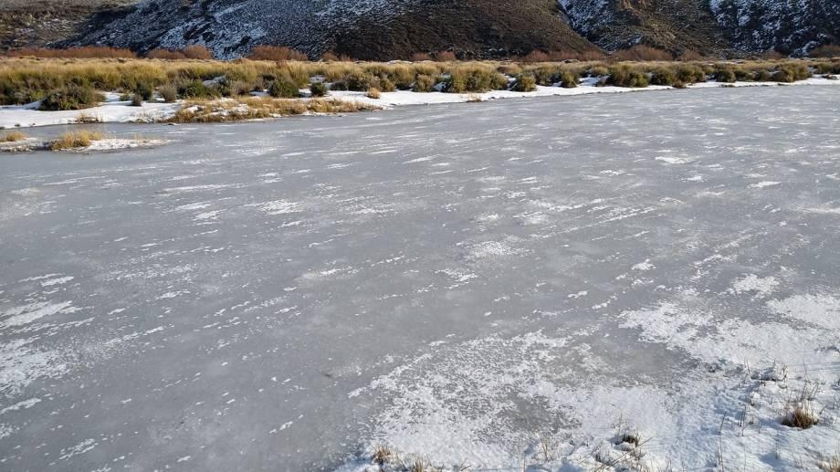 En la zona se registran temperaturas muy bajas con registros que han llegado a los -23 grados. (Foto: gentileza Silvana Marquez)