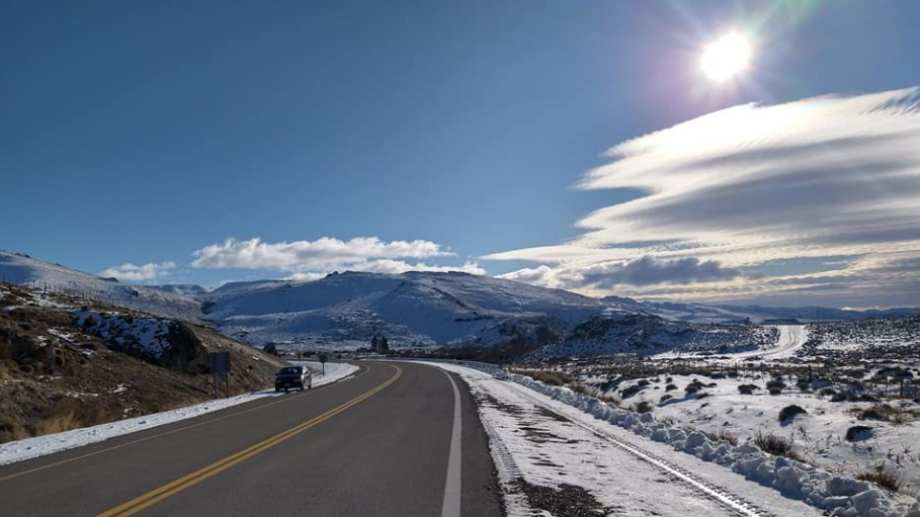 La zona de Pilcaniyeu está cubierta de nieve. (Foto: gentileza Silvana Marquez)