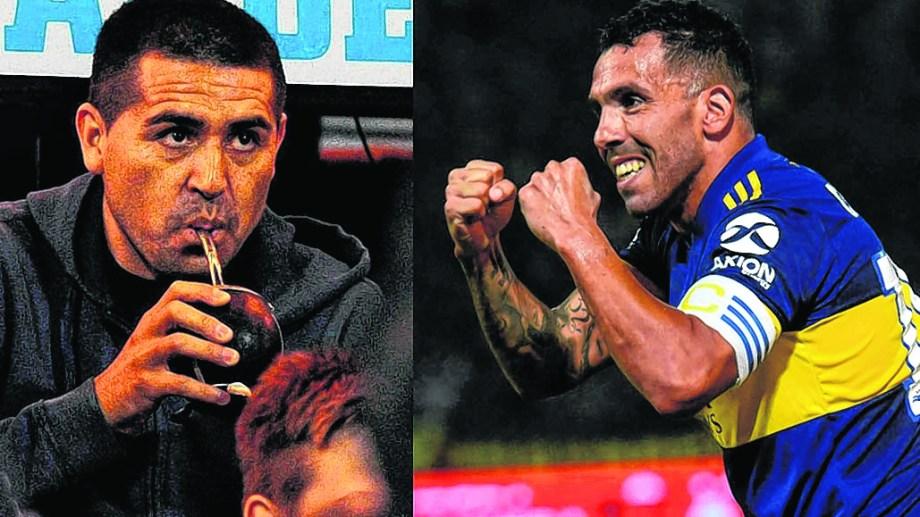 Riquelme destrabó el conflicto para que Tevez continúe en Boca, luego del fuego cruzado entre el jugador y el Patrón Bermúdez.