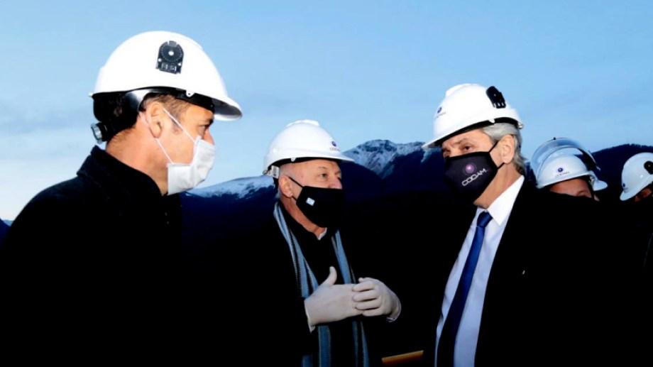 En junio, antes del asado en El Messidor, Gutiérrez y Fernández inauguraron una planta de tratamiento en Villa La Angostura (Neuquén Informa)
