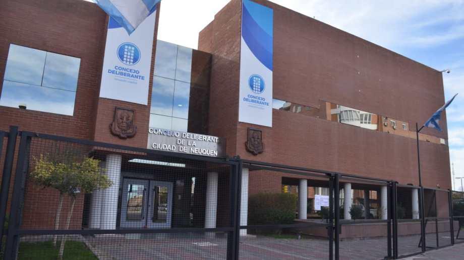 El Concejo Deliberante de Neuquén sesiona los jueves (archivo)
