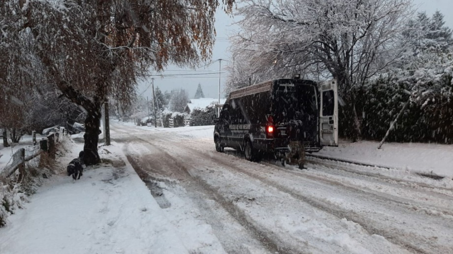 El grupo COER también patrulla los barrios del oeste de Bariloche. Gentileza