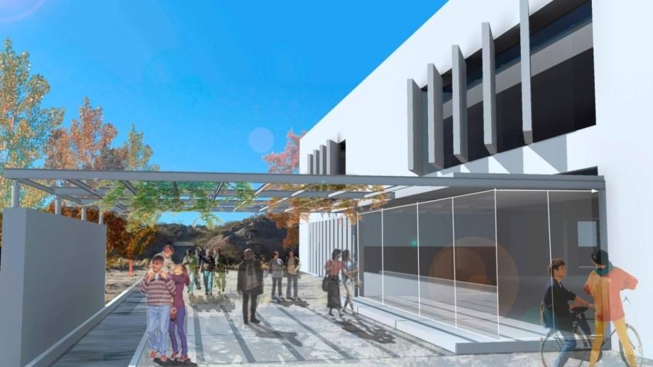 El nuevo edificio de la UNC que fue anunciado hoy por el presidente Fernández. Foto: Gentileza