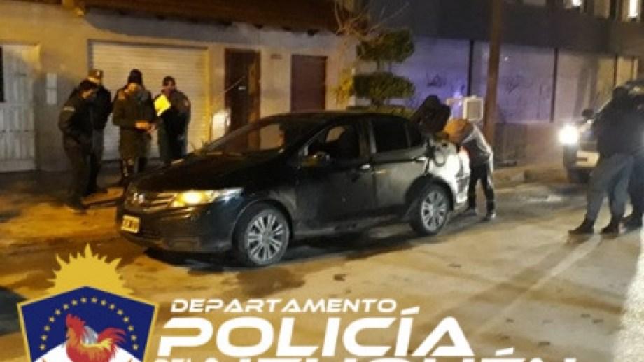 Fue en un operativo de personal policial de la Comisaría 5° de Centenario. Foto: gentileza