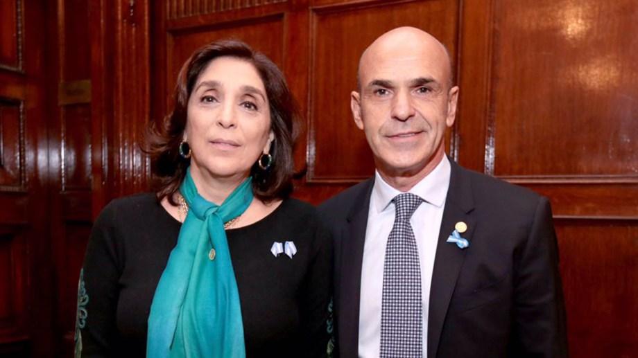 Arribas y Majdalani. Titular y número dos de la AFI en el gobierno de Mauricio Macri. Foto archivo.