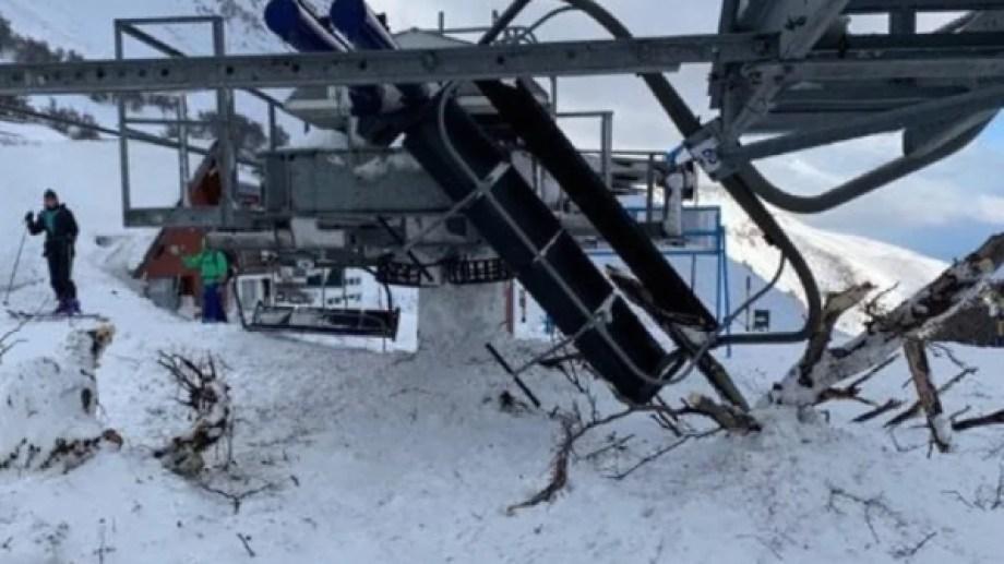 Sólo hubo daños materiales en Esquel. Foto: gentileza