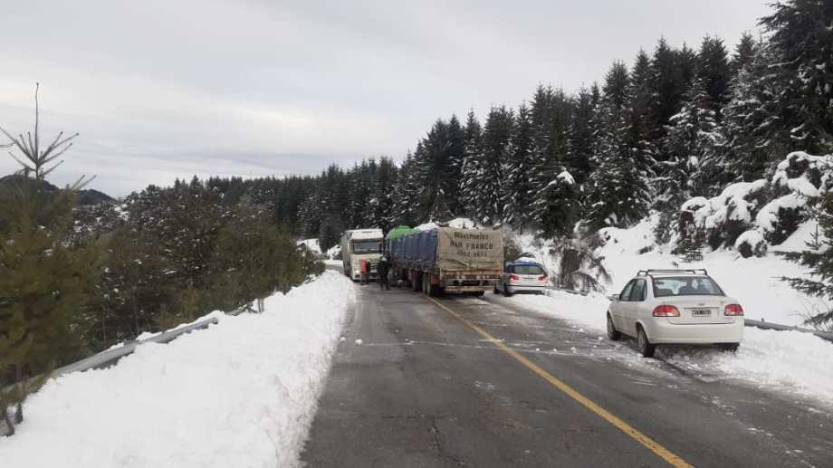 El accidente ocurrió a la altura de El Foyel. Foto: gentileza