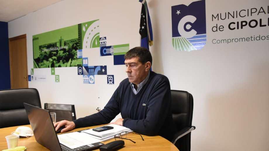 El intendente participará de la reunión vía Zoom (Florencia Salto)